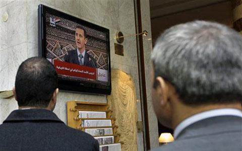 Syrian President Denounces Foreign 'Conspiracy' on Protests